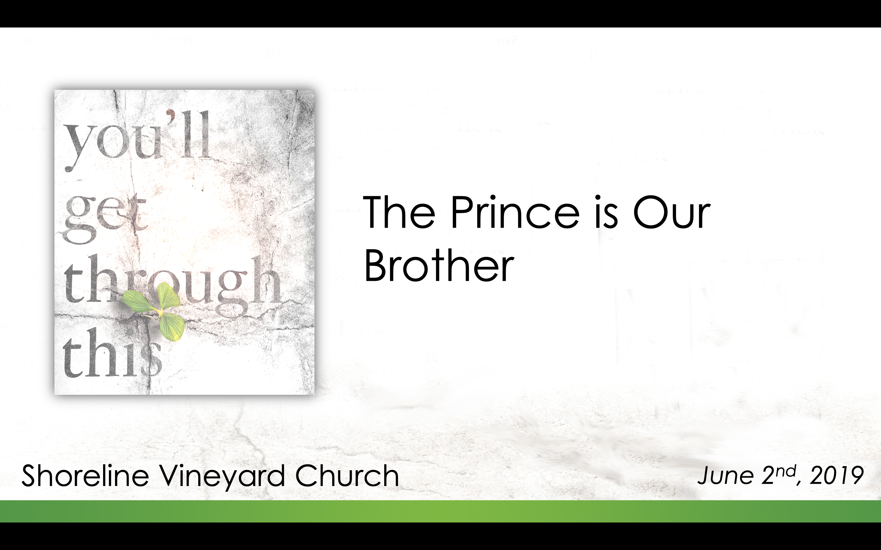 The Prince is Our Brother – You'll Get Through This